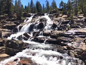 Glen Alpine Waterfall is located above Fallen Leaf Lake just outside of South Lake Tahoe and is the second most popular Lake Tahoe waterfall.